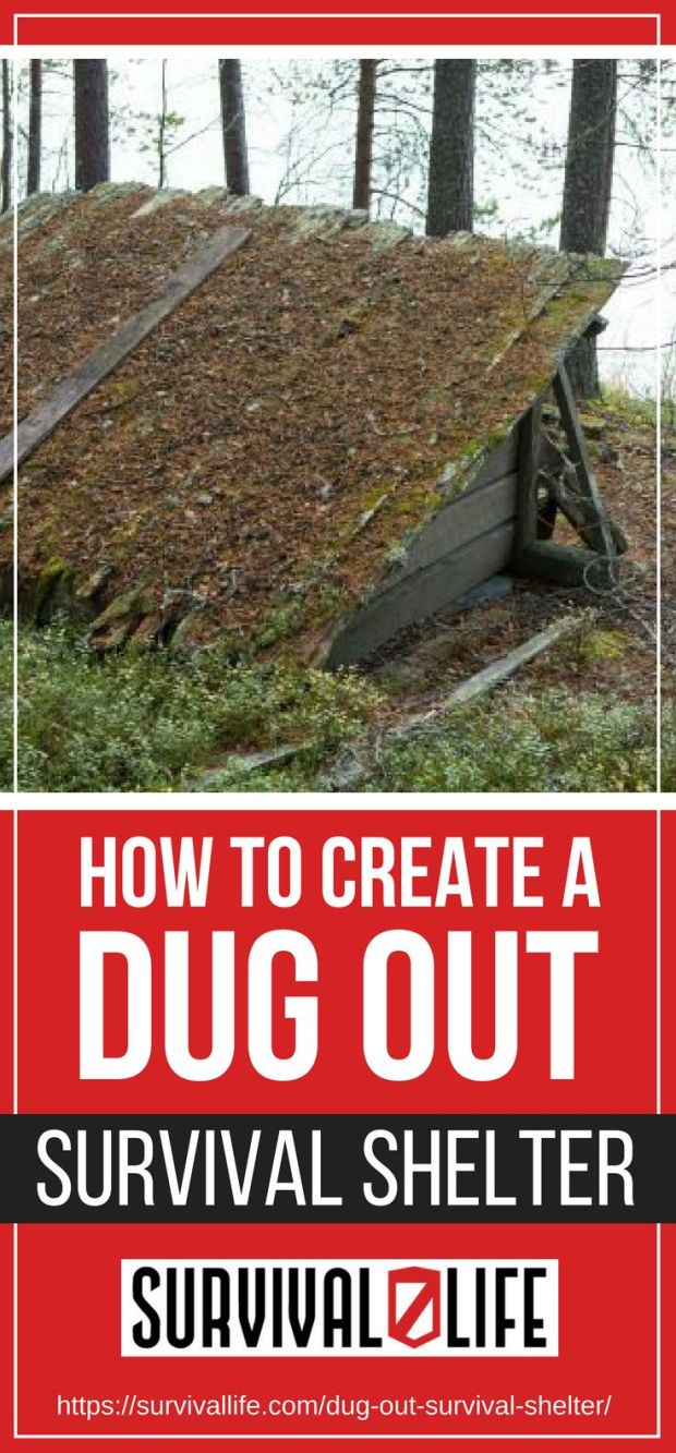 How To Create A Dug Out Survival Shelter | https://survivallife.com/dug-out-survival-shelter/