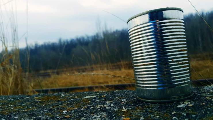 Tin Can on gravel surface | Surprising Survival Uses For A Tin Can