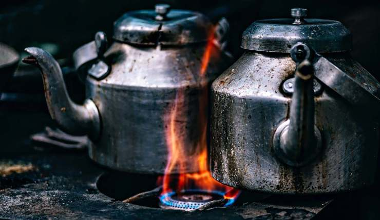 Teapots and flaming stove | Chicken And Duck Keeping | Top Natural Remedies For Your Sick Flock