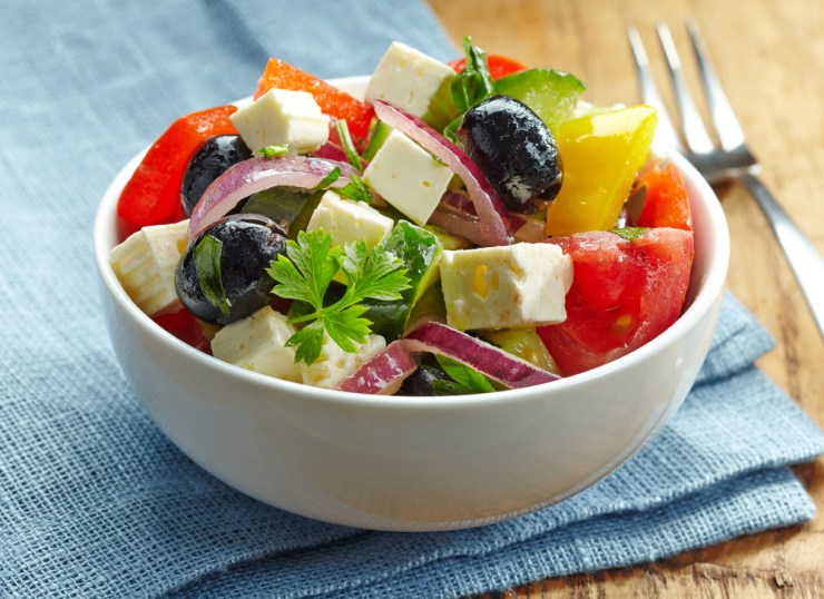 Simple Greek Salad | No Cook Meals for Surviving the Pandemic and Food Supply Shortages