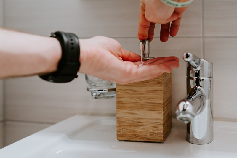 putting soap on hands | Natural Household Disinfectants When There's No More Lysol