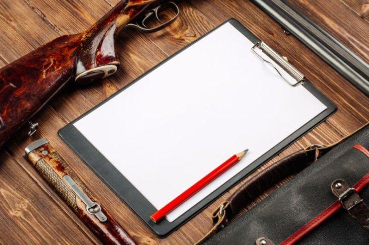 blank-clipboard-pen-hunting-equipment-on | skills SHTF