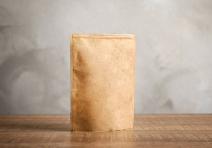 ziploc paper bag on table mockup | idahoan instant mashed potatoes
