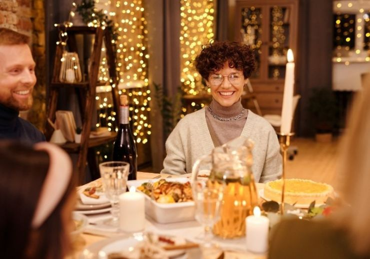 People having dinner | Christmas Survival Guide | How to Survive Christmas