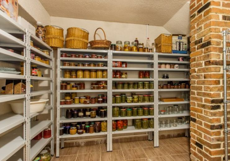 home food storage room various jars | new year tips for success