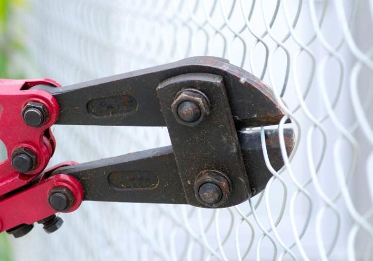 close heavy metal bolt clipper red | wire cutters