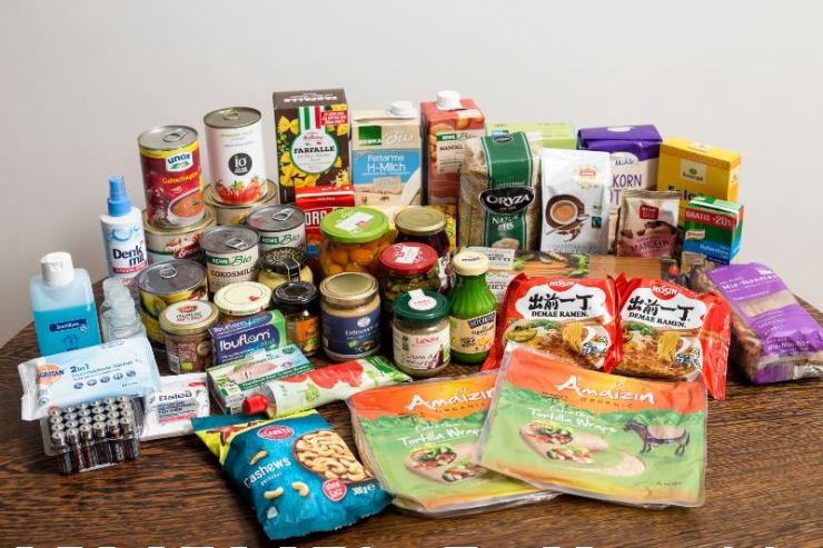 A small German family's emergency two week food supply-Food Kit-SS-Ration Food