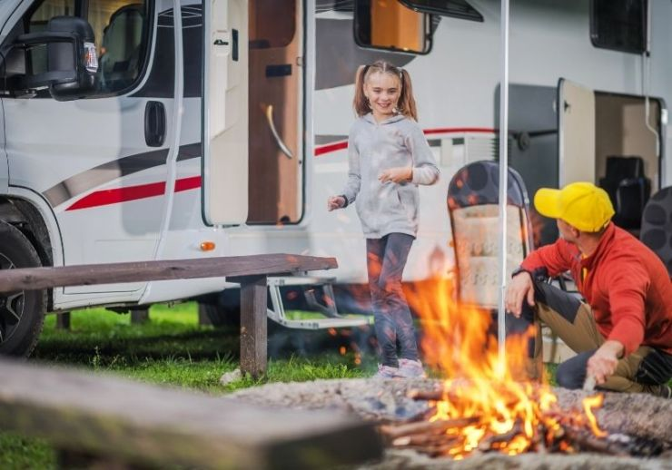 Family RV Road Trip Campsite | what you need to know to book a campsite for an rv