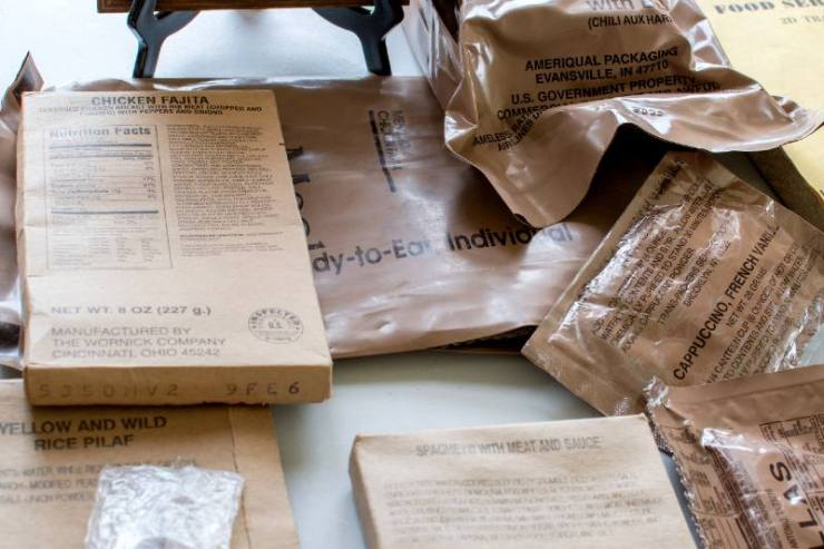Ready-to-eat military meals are prepackaged, self-contained single field rations used in combat