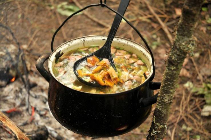 mushroom soup-camping food on a budget