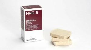 NRG-5 Langzeitnahrung als Notverpflegung zum Überleben