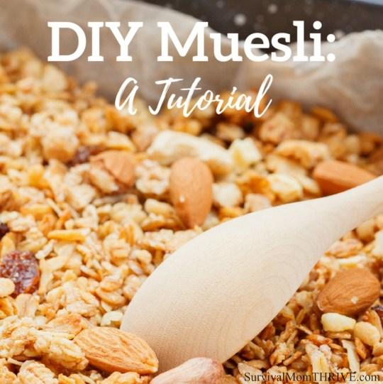 DIY Muesli: A Tutorial via Survival Mom Thrive