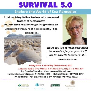 Survival 5.0 - Explore the World of Sea Remedies | Dr Annette Sneevliet | 8 & 9 Jan 2021