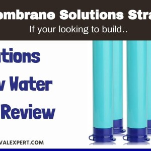 Membrane Solutions Straw Water Filter Survival Filtration Portable Gear Emergency Preparedness...
