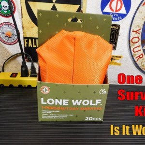 Lone Wolf 1 Person 1 Day Emergency Survival Kit