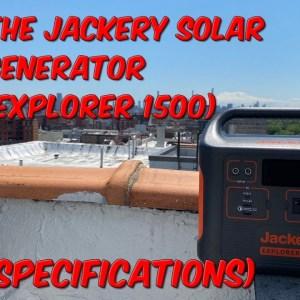 The Jackery Solar Generator (Explorer 1500) (Specs)