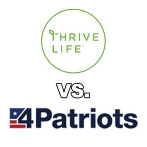 Thrive Life vs 4Patriots Emergency Food