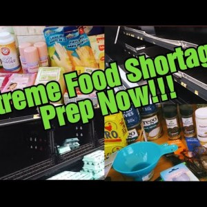 Extreme food shortages/Prepper Pantry haul/Prepping for a Dark winter