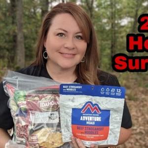 Homemade MRE vs Mountain House Adventure Meals | 24 Hour Survival Food