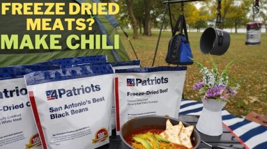 Camping with 4Patriots Meat and Protein Deluxe Survival Kit Review // Kids Try Survival Food