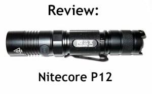 Nitecore P12 cover
