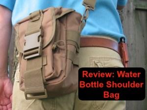 Water bottle shoulder bag cover