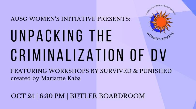 Oct 24, DC: Unpacking the Criminalization of Domestic Violence