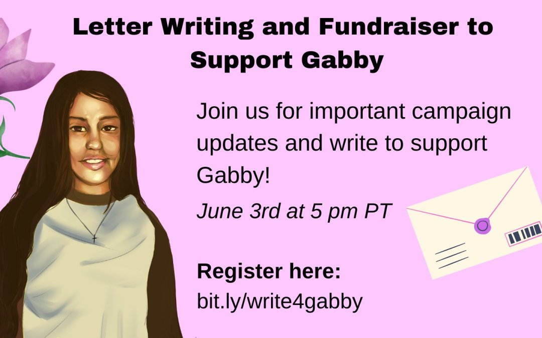 June 3: Join the #FreeGabby campaign for letter-writing, fundraising, & updates