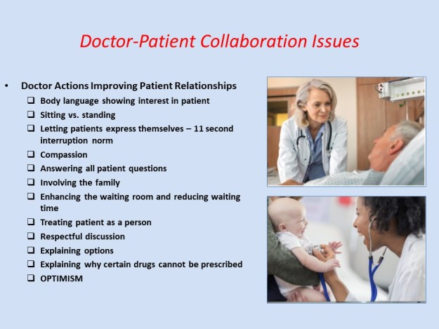 Doctor Actions Improving Patient Relationships