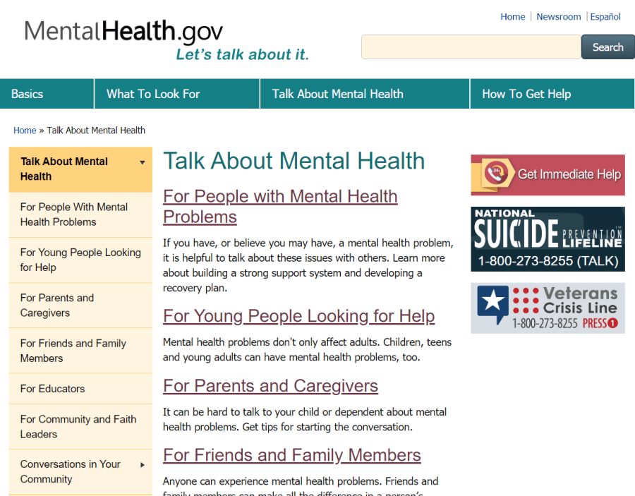 Resources for Our Mental Health