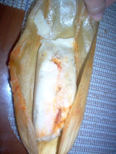Uncooked tamal.