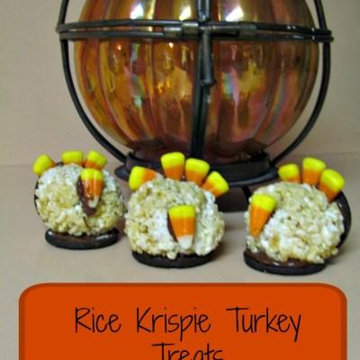 Thanksgiving Memory: Rice Krispie Turkey Treats