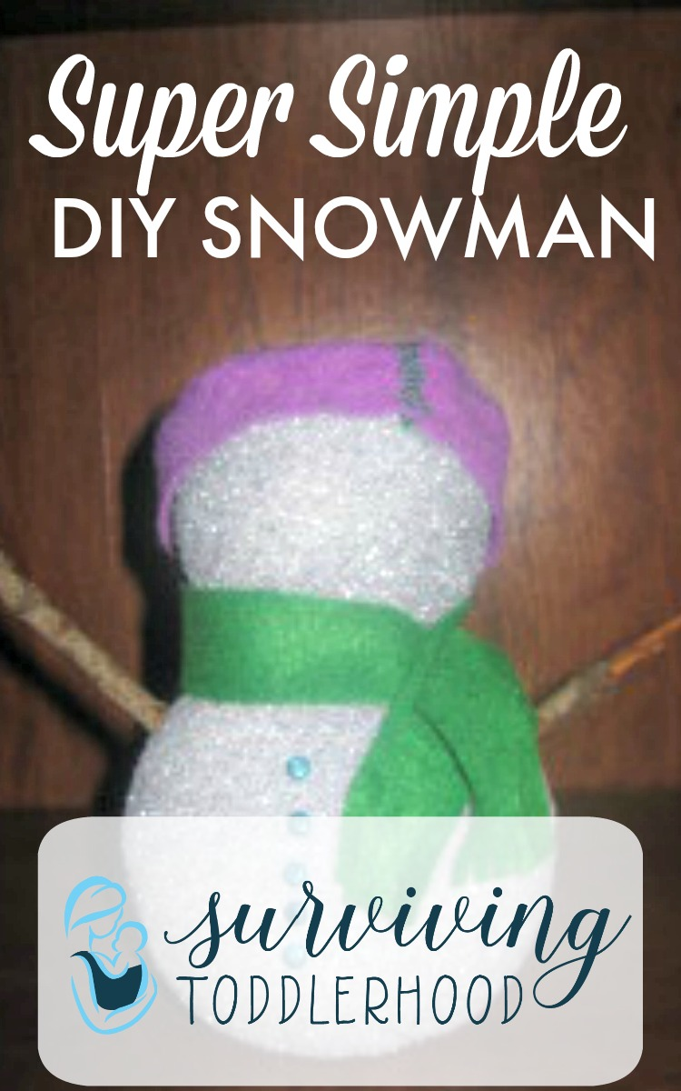 Make this super simple styrofoam snowman with your littles this winter!