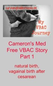 My VBAC Journey- Med Free VBAC Part 1
