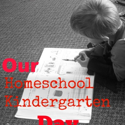 Our Homeschool Kindergarten Day