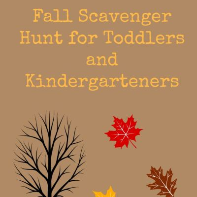 {Free Printable} Fall Scavenger Hunt for Toddlers and Kindergarteners