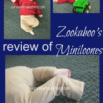 Review of Zookaboo's Miniloone {aka pants that fit over cloth diapers}