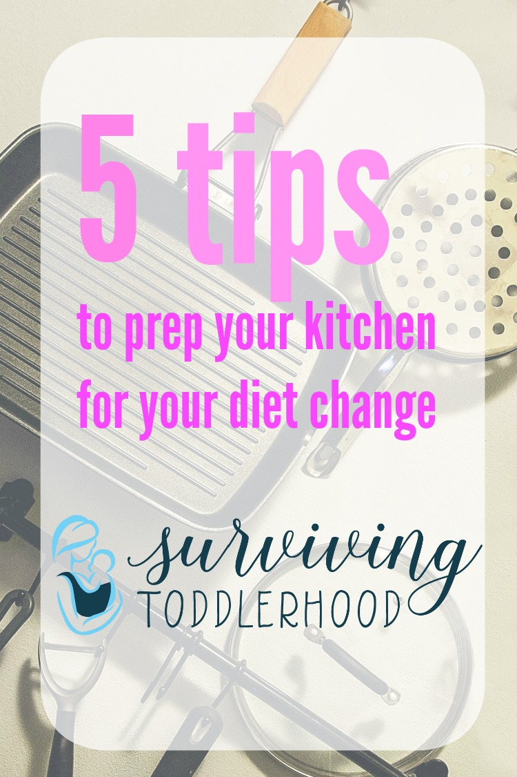 Prep Your Kitchen For Your Diet Change. Whether it is because of food allergies, food sensitivities, or just because you want to eat healthier, these tips will get you on the right track to a better eating style!