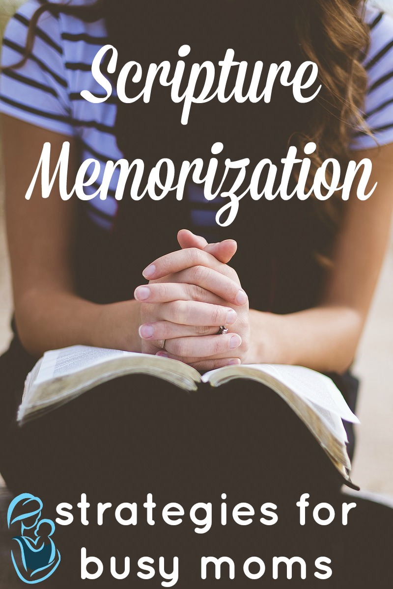 Do you want to memorize scripture, but you can't find the time as a busy momma? Use theses strategies for scripture memorization and learn those passages that you want to hide in your heart.