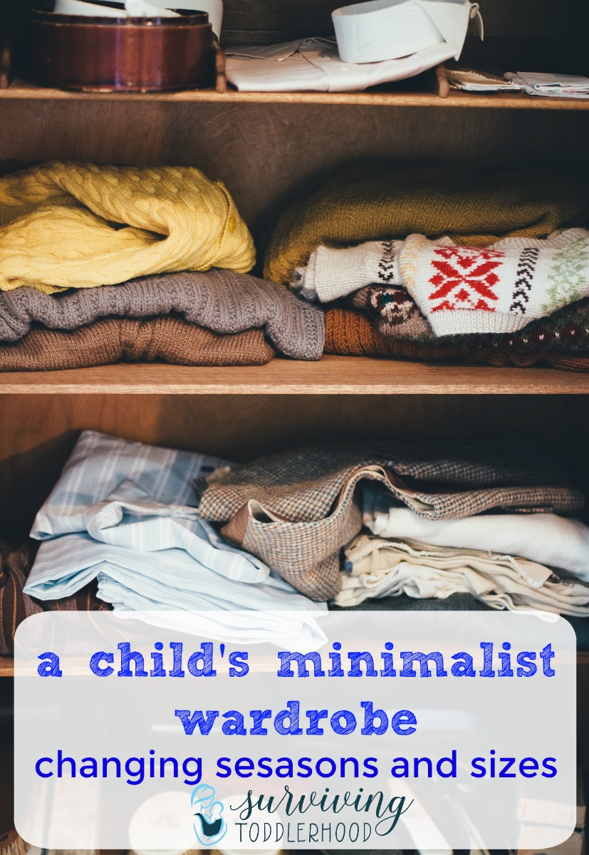 Changing Seasons and Sizes with your child's minimalistic wardrobe. Does your child have a minimal wardrobe? Here is how we reduce clutter and storage when changing seasons and sizes with our capsule wardrobes. Motherhood | Minimalism | Minimalist | Mothering |Toddlers | Clothes for Children | Christian Motherhood |