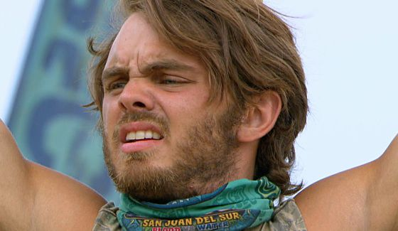 Wes Nale competes for Immunity