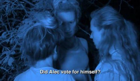 Survivor 2014 - Natalie covers her vote-flip against Alec