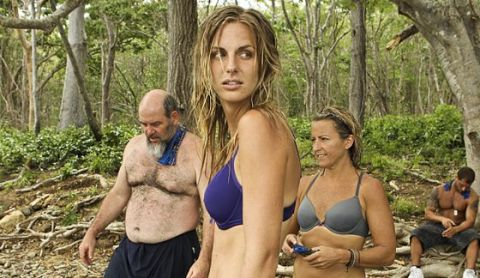 Survivor 2015 castaways Sierra, Dan, and Kelly