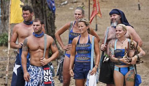 Blue Collar tribe on Survivor 2015