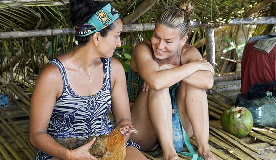 Abi-Maria and Shirin on Survivor 2015