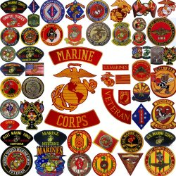 Marine Patches Flags Signs