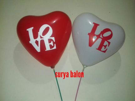 balon sablon love