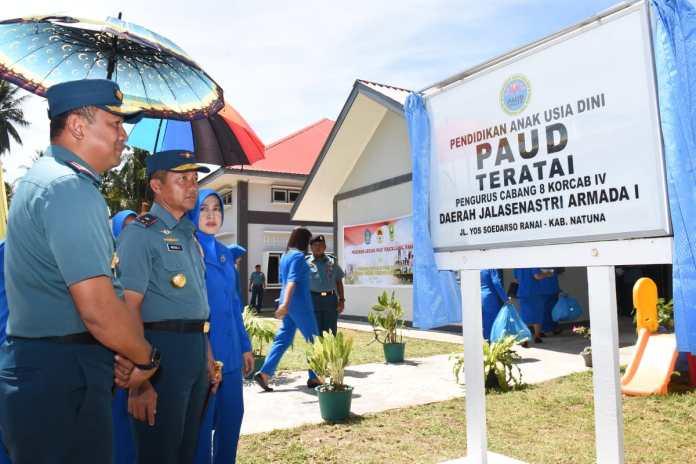 Danlantamal IV Laksamana Pertama TNI Arsyad Abdullah saat kunjungan kerja ke Lanal Ranai, Natuna (Dok Dispen Lantamal IV)
