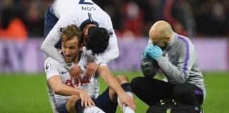 Striker Tottenham Hotspur Harry Kane mengalami cedera saat melawan Southampton pada 1 Januari 2020. (Sumber Foto: TALKSport)
