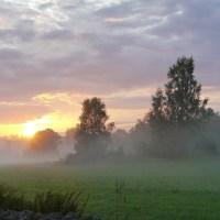 Solnedgång efter regnet...